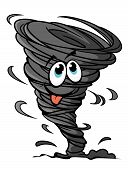 stock photo of typhoon  - Funny hurricane in cartoon style for mascot or weather design - JPG