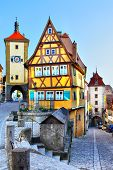 The most famous sight of Rothenburg ob der Tauber, Bavaria, Germany