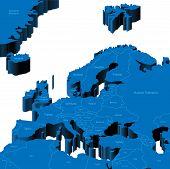 3D Map Of European Region
