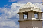 Chimney With Cloudy Sky