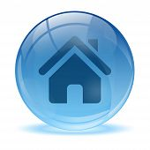 3D Glass Sphere Home Icon
