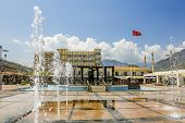 Monument To Ataturk In Square In Kemer, Turkey