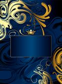 Gold-blue Abstract Background