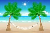 Beach With A Hammock