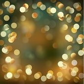 Festive background with gold defocused lights - eps10