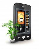 3d coffee machine smartphone