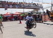 Motorcycle drag racing