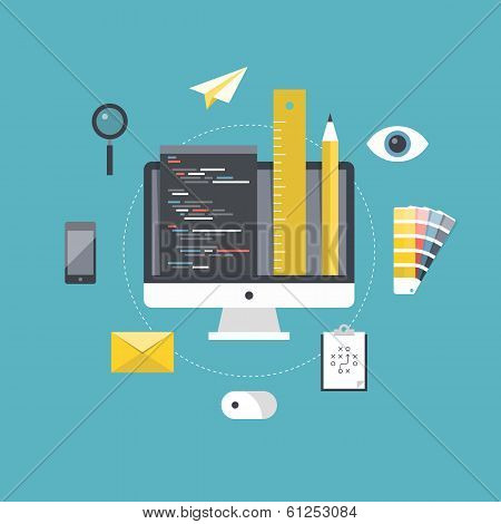 Web Design And Programming Development poster