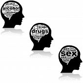 stock photo of addicted  - Concept illustration showing an addict - JPG