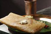 Butter Plain Dosa - a South Indian pancake