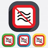 No Water waves sign icon. Flood symbol.