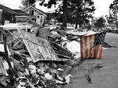 stock photo of katrina  - a small sign of hope  - JPG
