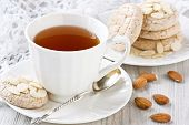 White Cup Tea And Almond Cookies