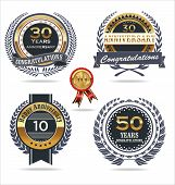Anniversary golden labels