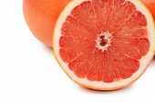 Bright Grapefruit Isolated On White Background