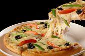 Cheesy Vegetable Pizza.