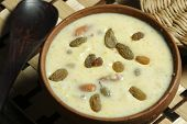 stock photo of bengali  - Top View of Kheer Mohans is a Bengali sweet.