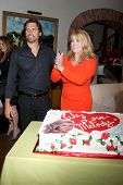 LOS ANGELES - MAR 4:  Joshua Morrow, Melody Thomas Scott at the Melody Thomas Scott Celebrates 35 Years at the