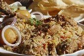 image of biryani  - Sindhi biryani prepared from mutton - JPG