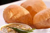 Puri bhaji - An Indian dish