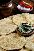 image of urad  - Urad dal puri Indian flatbread which is made with wheat flour served as breakfast dish - JPG