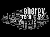 High resolution concept or conceptual abstract green energy and ecology or conservation word cloud t