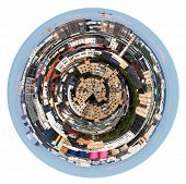 Spherical Panoramic View Of Urban Residential Area