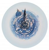 Spherical Paris Skyline With Hotel Des Invalides