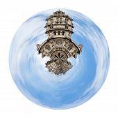 Spherical View Of Old Sainte-trinite Church In Paris
