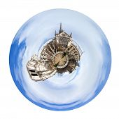 Spherical View Of Cathedral Notre-dame De Paris