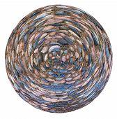Spherical View Of Cobblestone Pavement