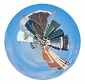 Spherical Panoramic View Of Moscow City