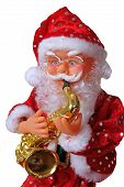 Santa Claus with saxophone