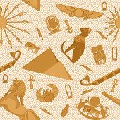 foto of bastet  - Seamless Egypt pattern with snakes - JPG