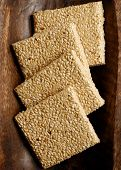 Gajak Is a Dry Sweet Made Of Sesame Seeds