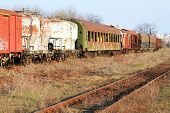 picture of railroad yard  - Abandonned train - JPG