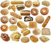 Bread Collection Isolated On a White Background