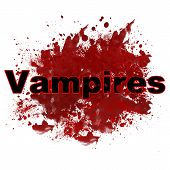 Vampires In Red Messy Blot
