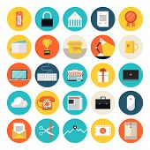 pic of e-business  - Flat design icons set modern style vector illustration concept of e - JPG