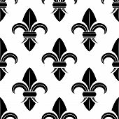 Black and white fleur de lys pattern
