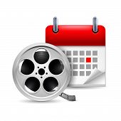 Film reel and calendar