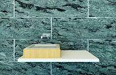 picture of wash-basin  - Closeup of modern wash basin - JPG
