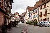A Scenic View In Eguisheim Village In France
