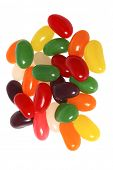 Jelly beans on white