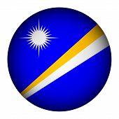 Marshall Islands Flag Button.