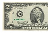 stock photo of two dollar bill  - Two dollar bill issued in 1976 to commemorate the bicentenary U - JPG