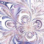 Colorful Light Violet Fractal Flower