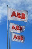 Abb Flags Against Blue Sky