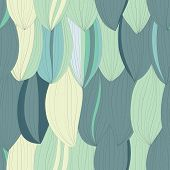 Seamless Texture With Abstract Petals
