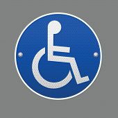 Disabled wheelchair sign